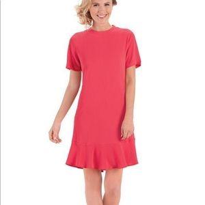 👉Mud pie Farrah Flounce Dress Pink Lg